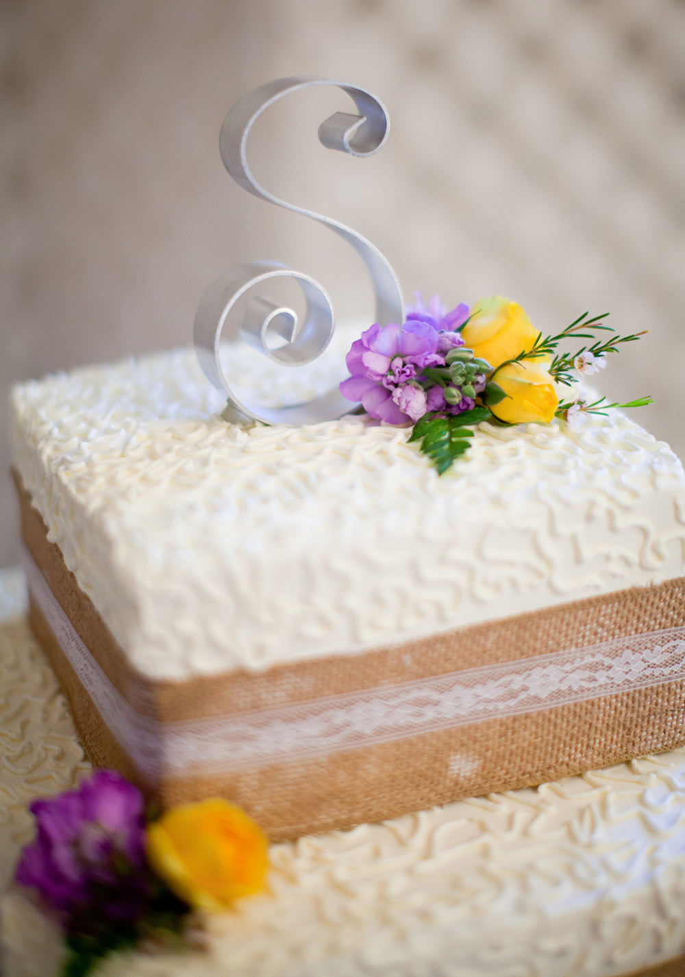 A Rustic Wedding Cake at a Wedding in Raleigh
