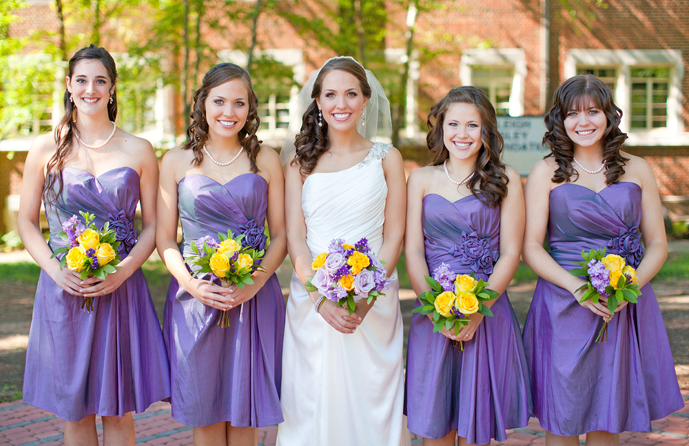 Colorful Portraits at a Wedding at Fairmont United Methodist Church