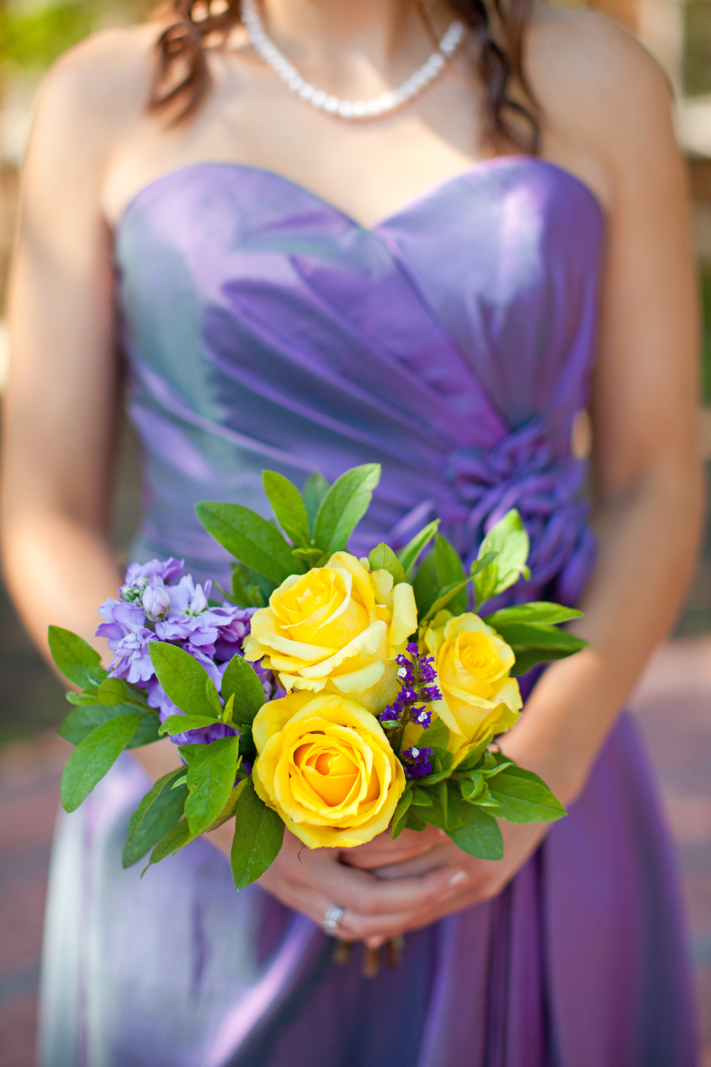A Purple & Yellow Wedding Bouquet
