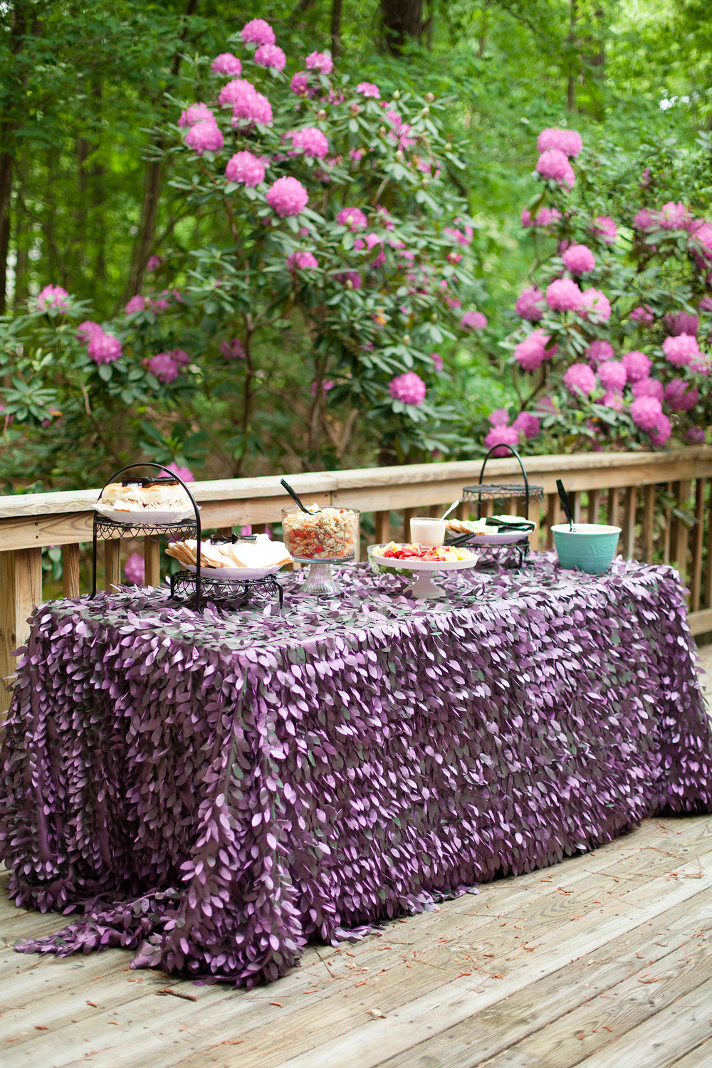 Fabulous Purple Table Linens by CE Rental in Raleigh, NC