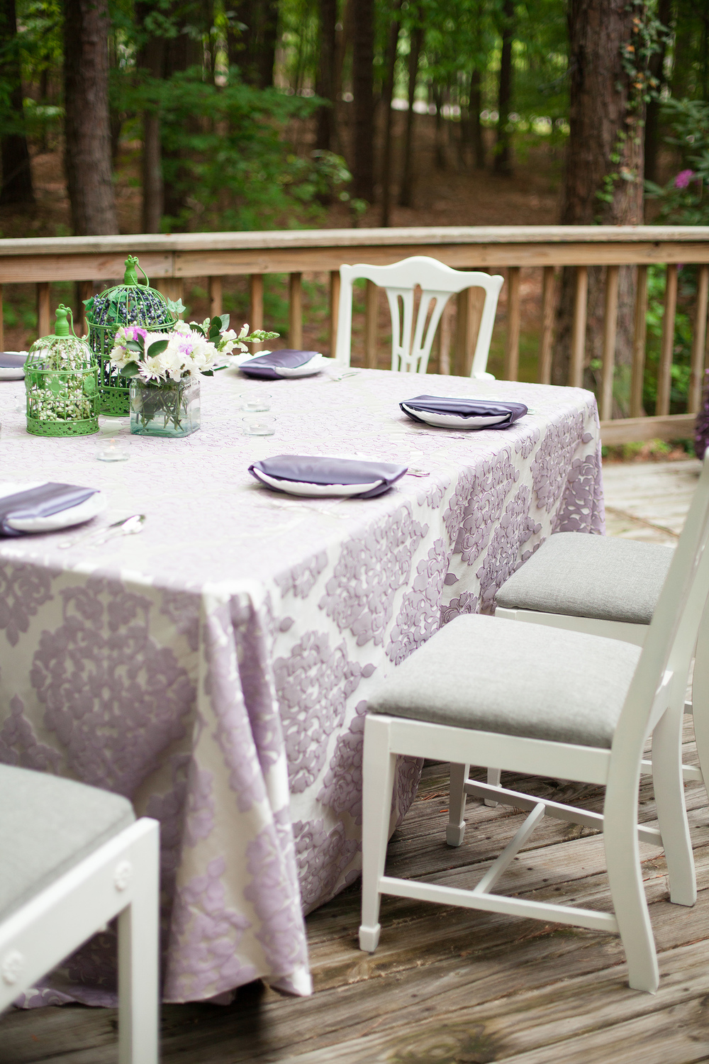 Chic Purple Tablescape Inspiration in Raleigh