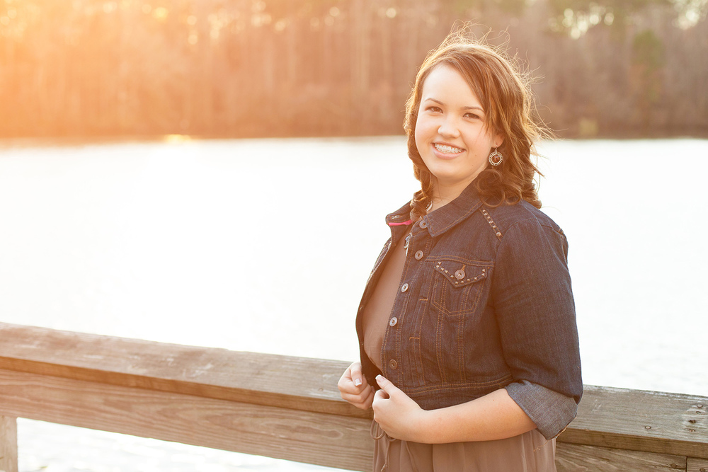 Senior Portraits with Light Flare in Raleigh, North Carolina