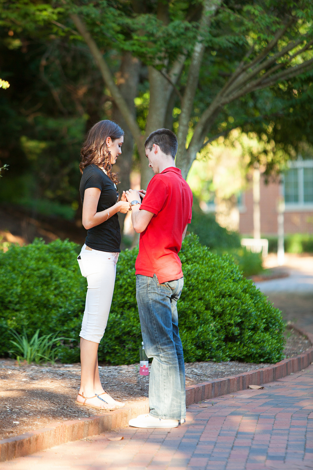 An Engagement on NC State's Campus