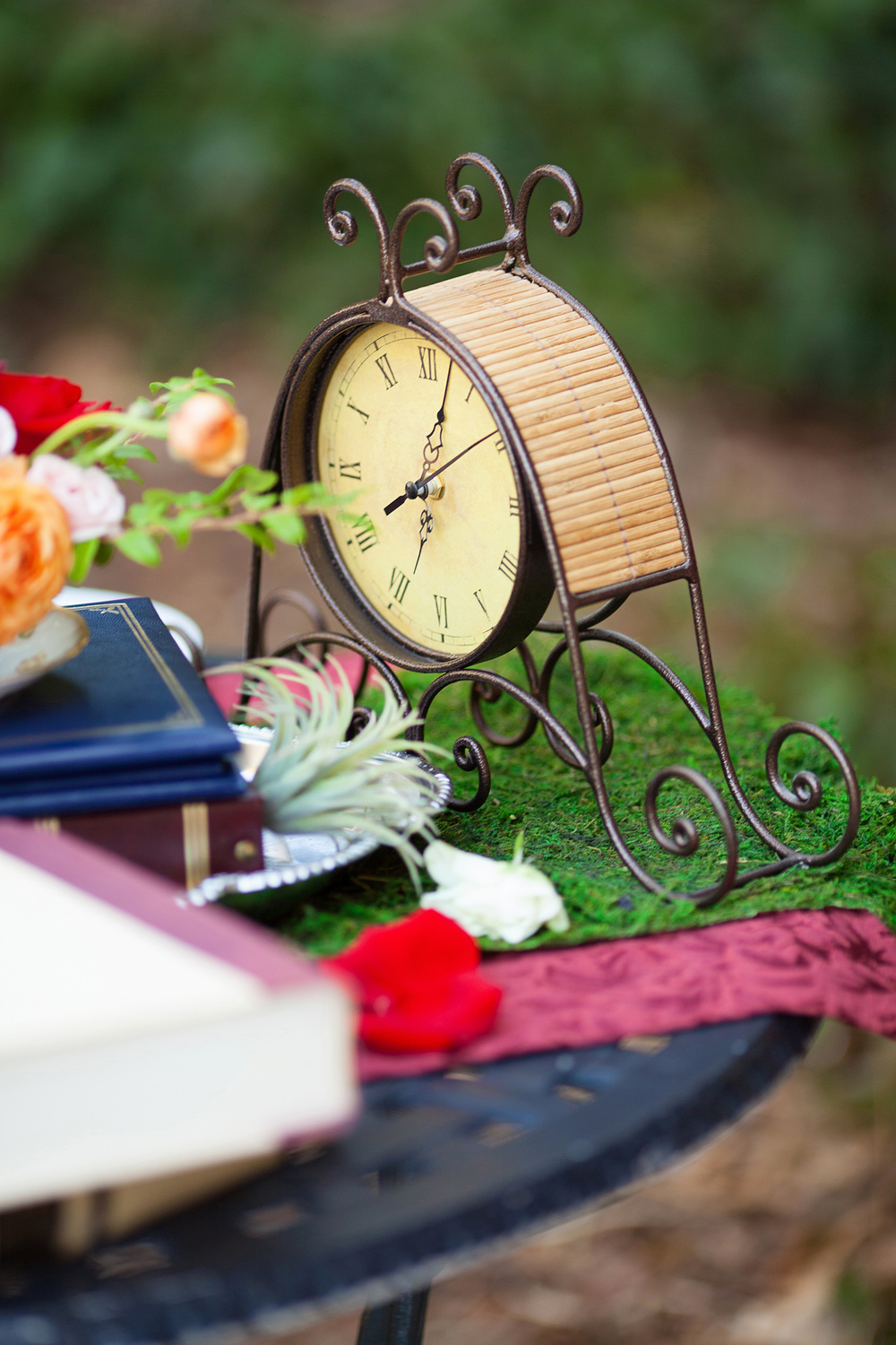 Rustic Cogsworth Clock from Beauty & the Beast Wedding