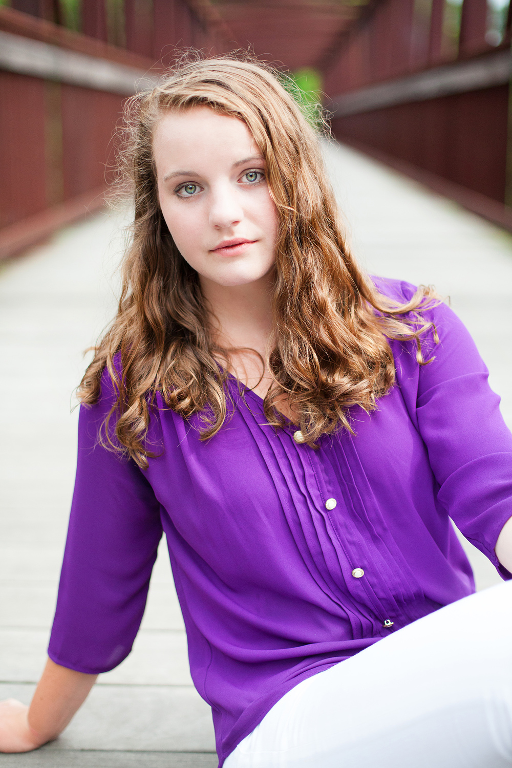 Purple Senior Portrait Photography