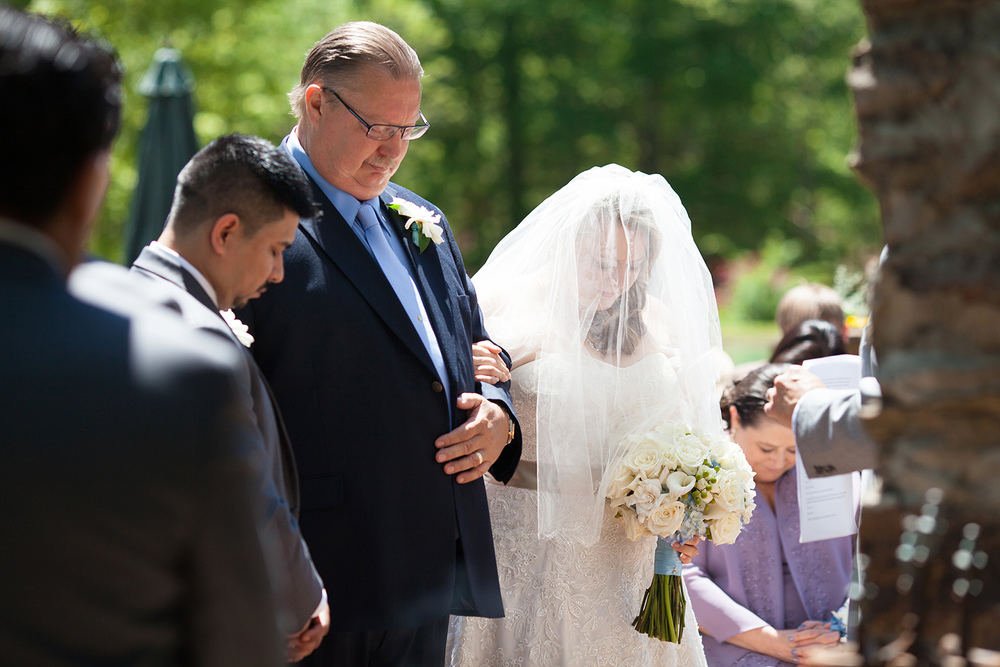 Prayer at a Wedding Ceremony in North Carolina