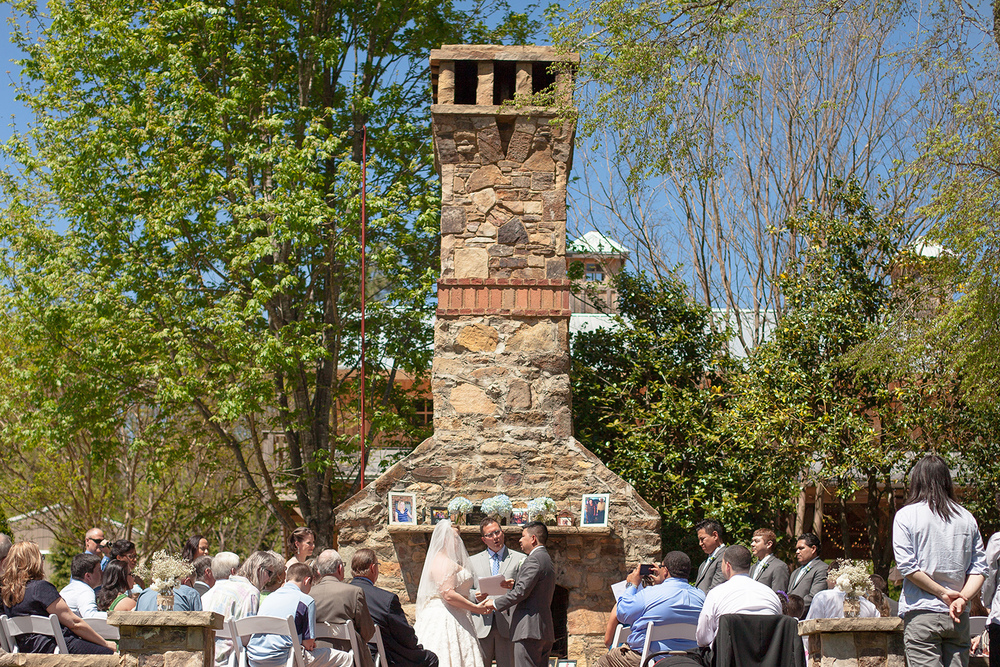 Chapel Hill Carriage House Wedding Ceremony