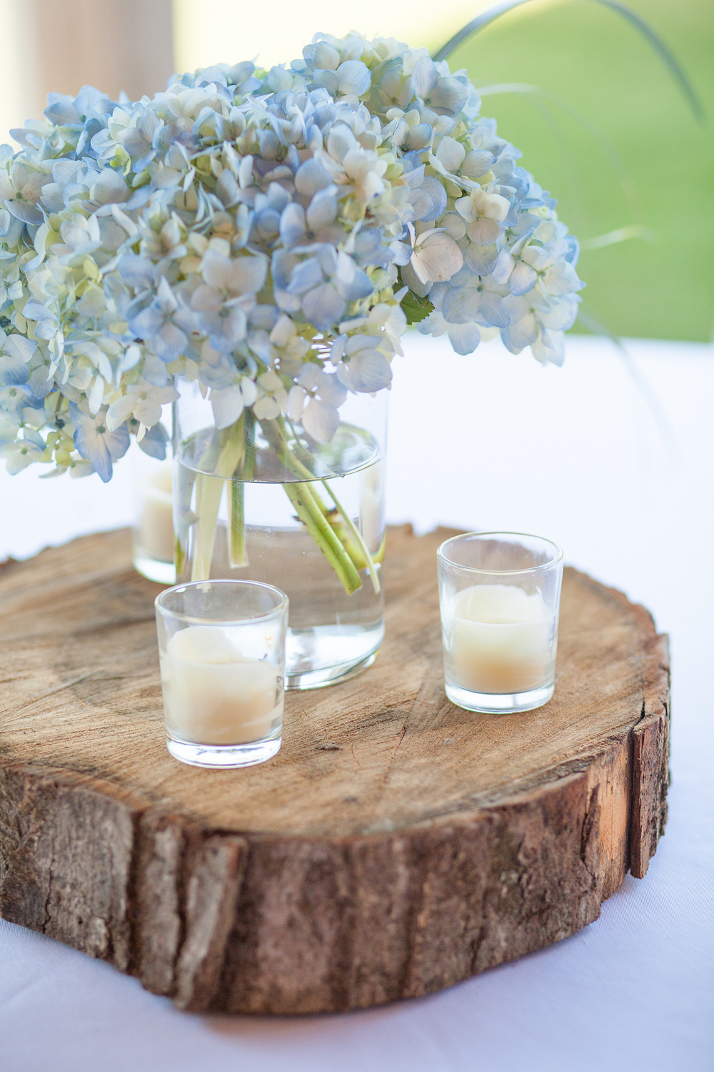Light Blue Centerpiece Florals
