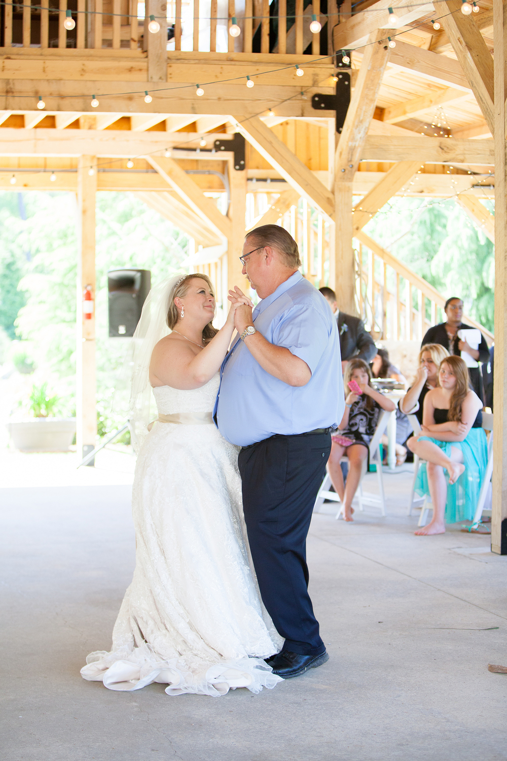 Father + Daughter Dance at a Reception