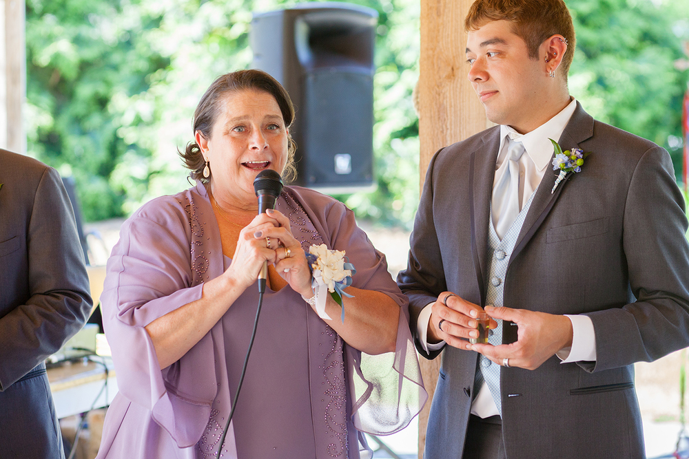 Mom & Best Man Giving a Speech