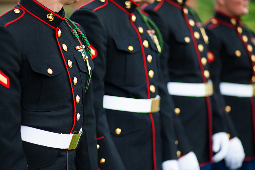 Military Uniforms in a Wedding