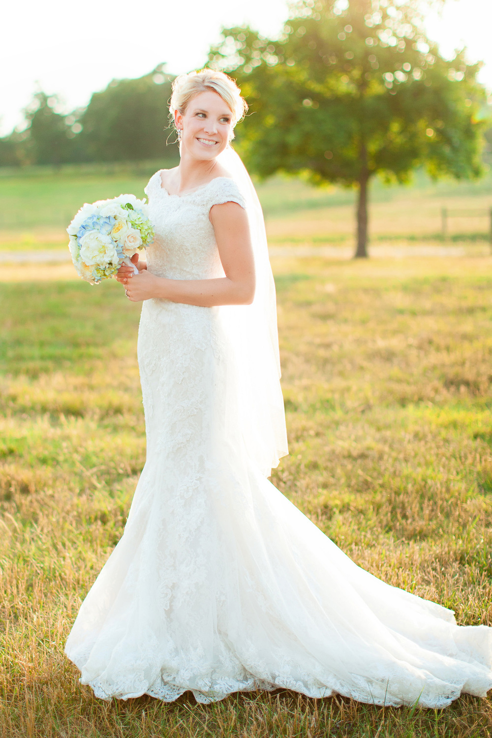 Bride at Elodie Farms