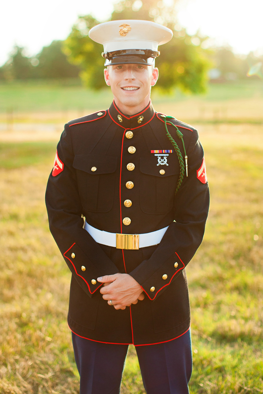 Military Groom in his Marine Uniform