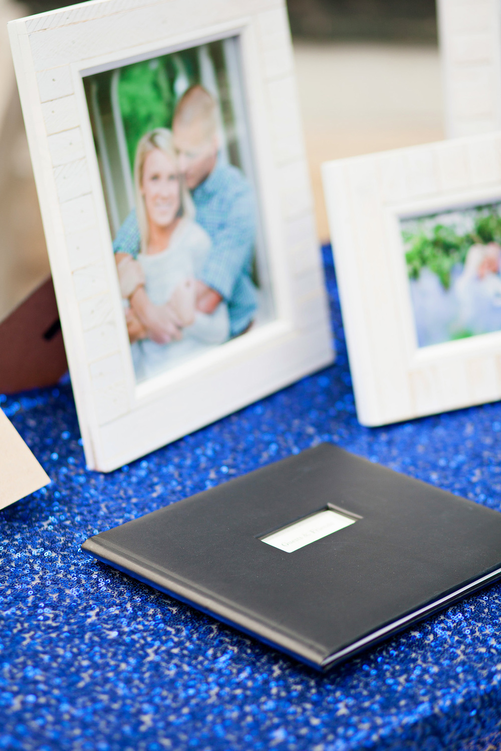 Black Leather Wedding Guestbook
