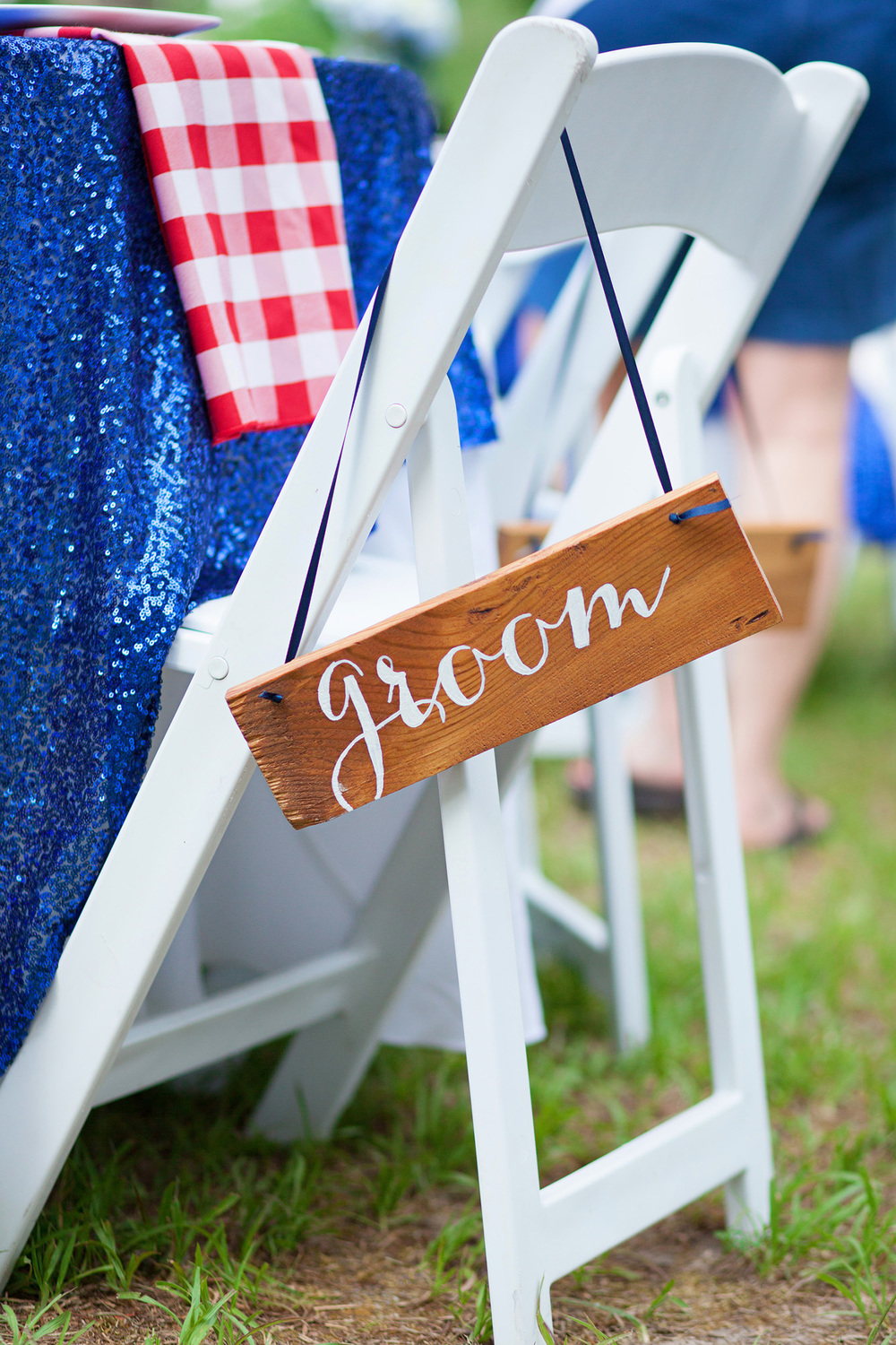 Rustic Groom Seat Sign
