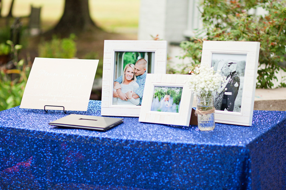 Blue Guestbook Table Inspiration
