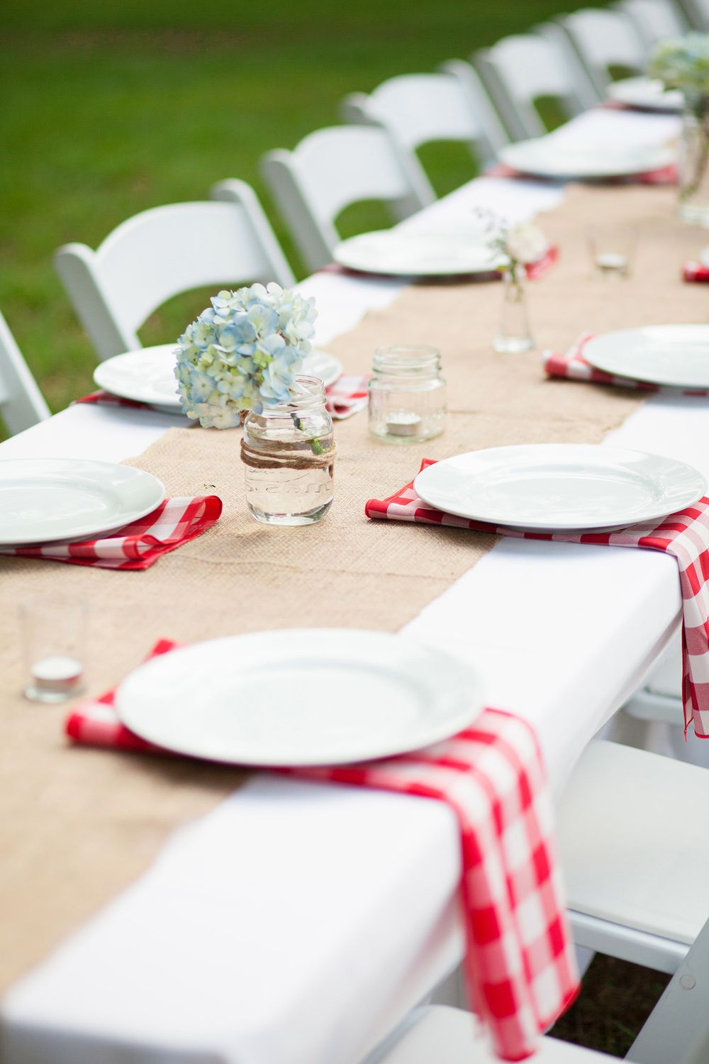 Rustic Gingham Wedding Tablescape