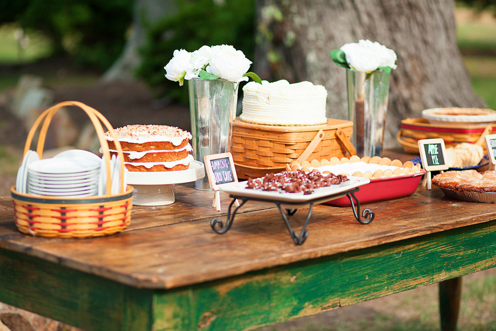 Southern Desserts at a Farmhouse Wedding in NC
