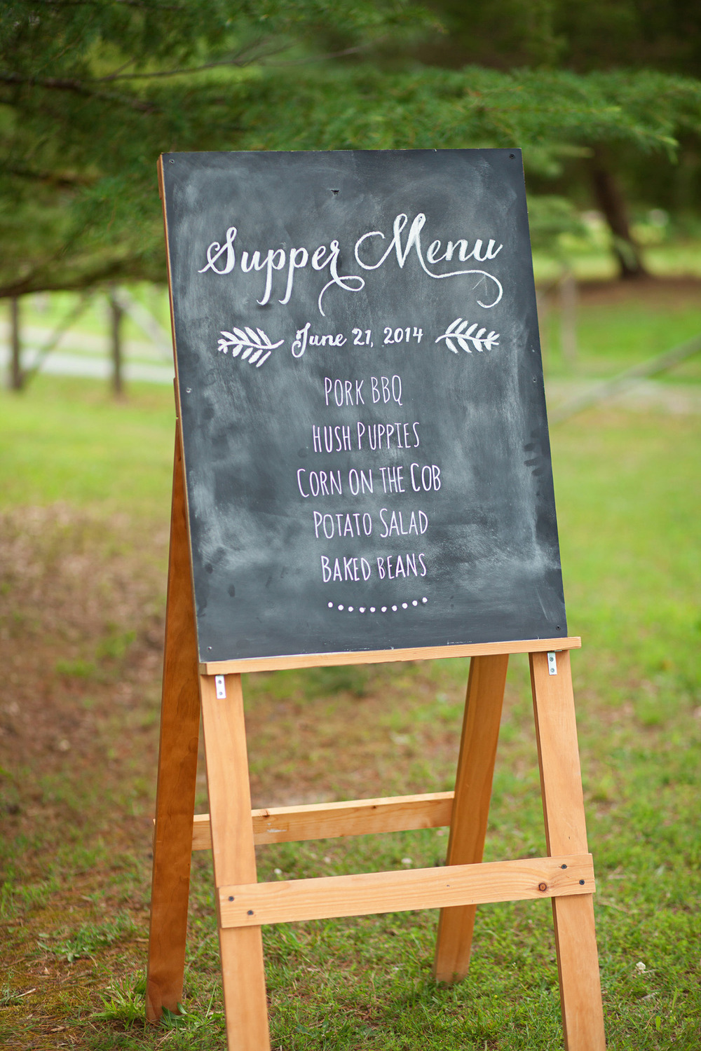 Custom Wedding Supper Menu Sign
