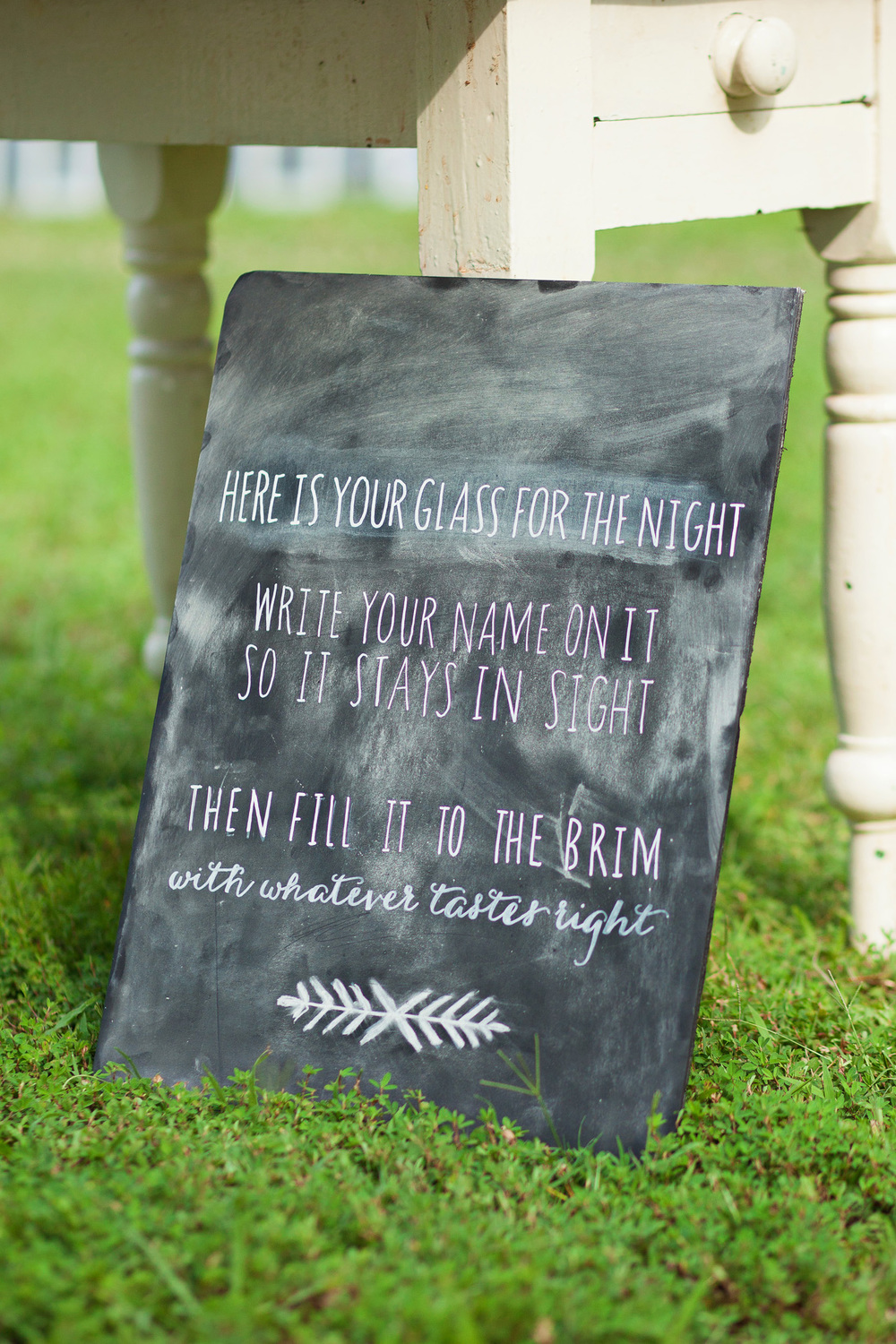 Custom Wedding Drink Sign