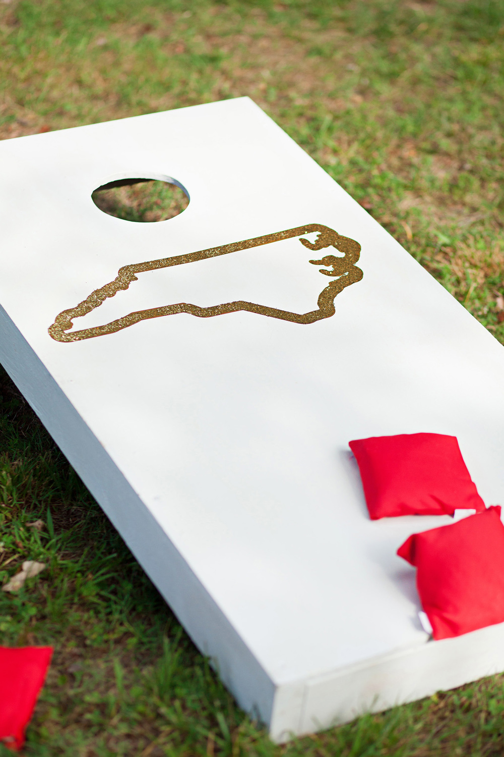 NC Cornhole Boards for a Wedding