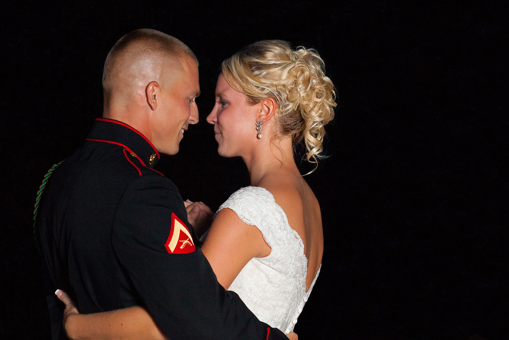 Military Bride & Groom's First Dance