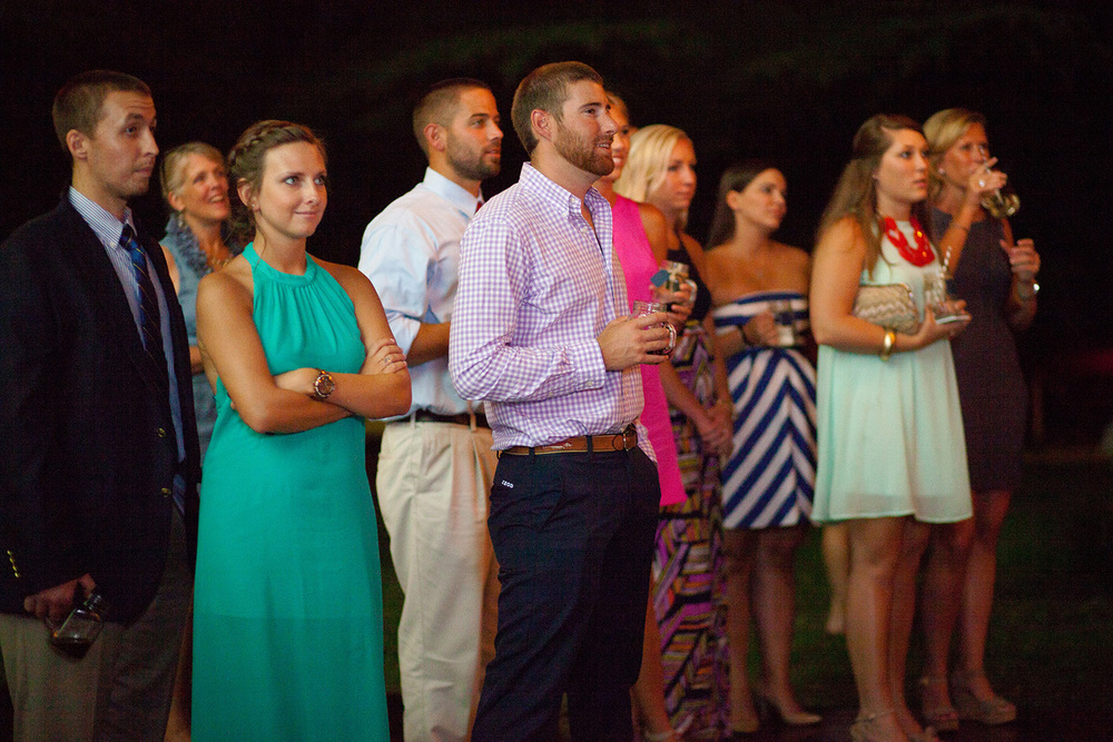 Guests Watching Speeches at an NC Wedding