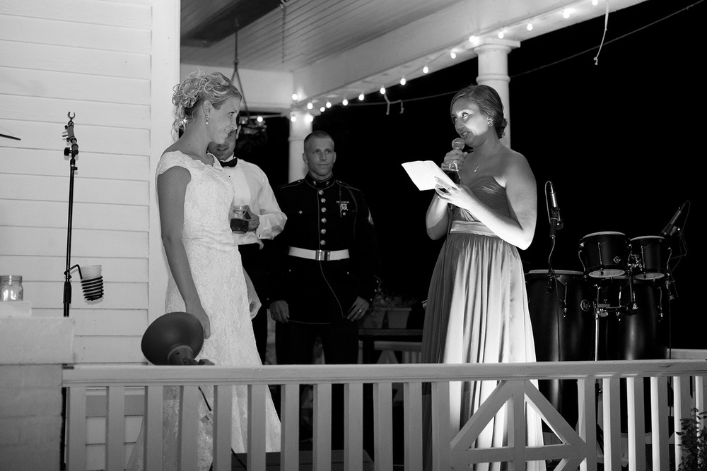 Maid of Honor's Speech at an NC Wedding