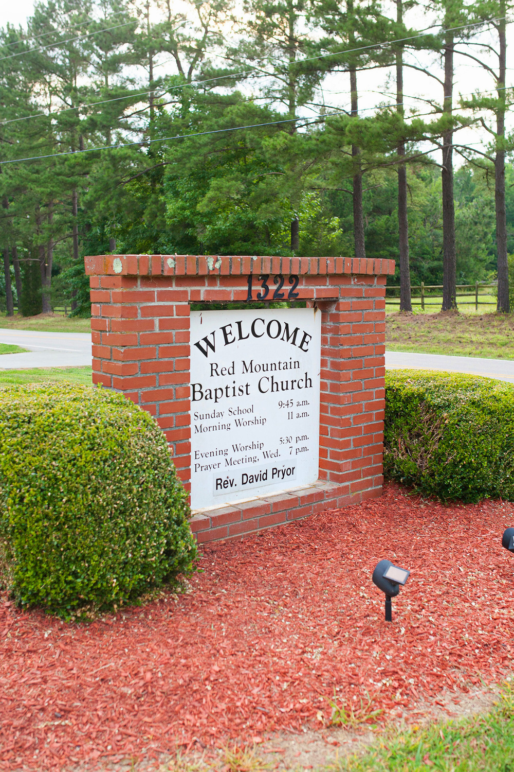 Red Mountain Baptist Church Sign