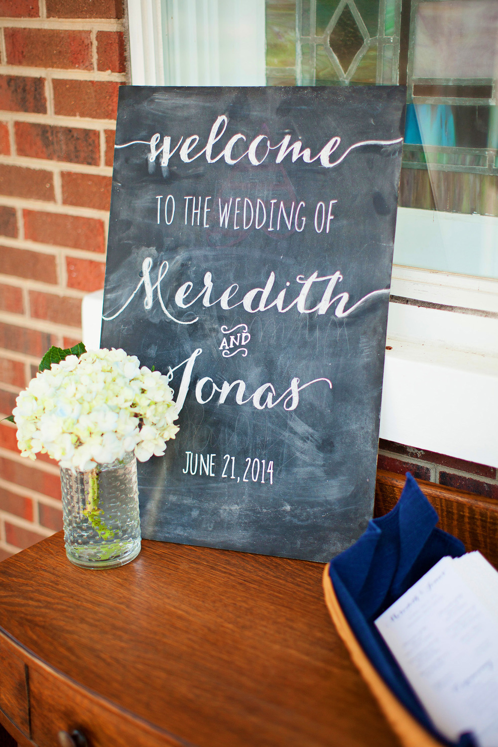 Cute Calligraphy Wedding Sign