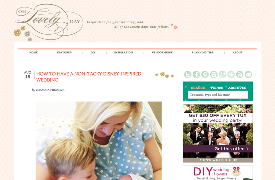 Featured on Oh Lovely Day