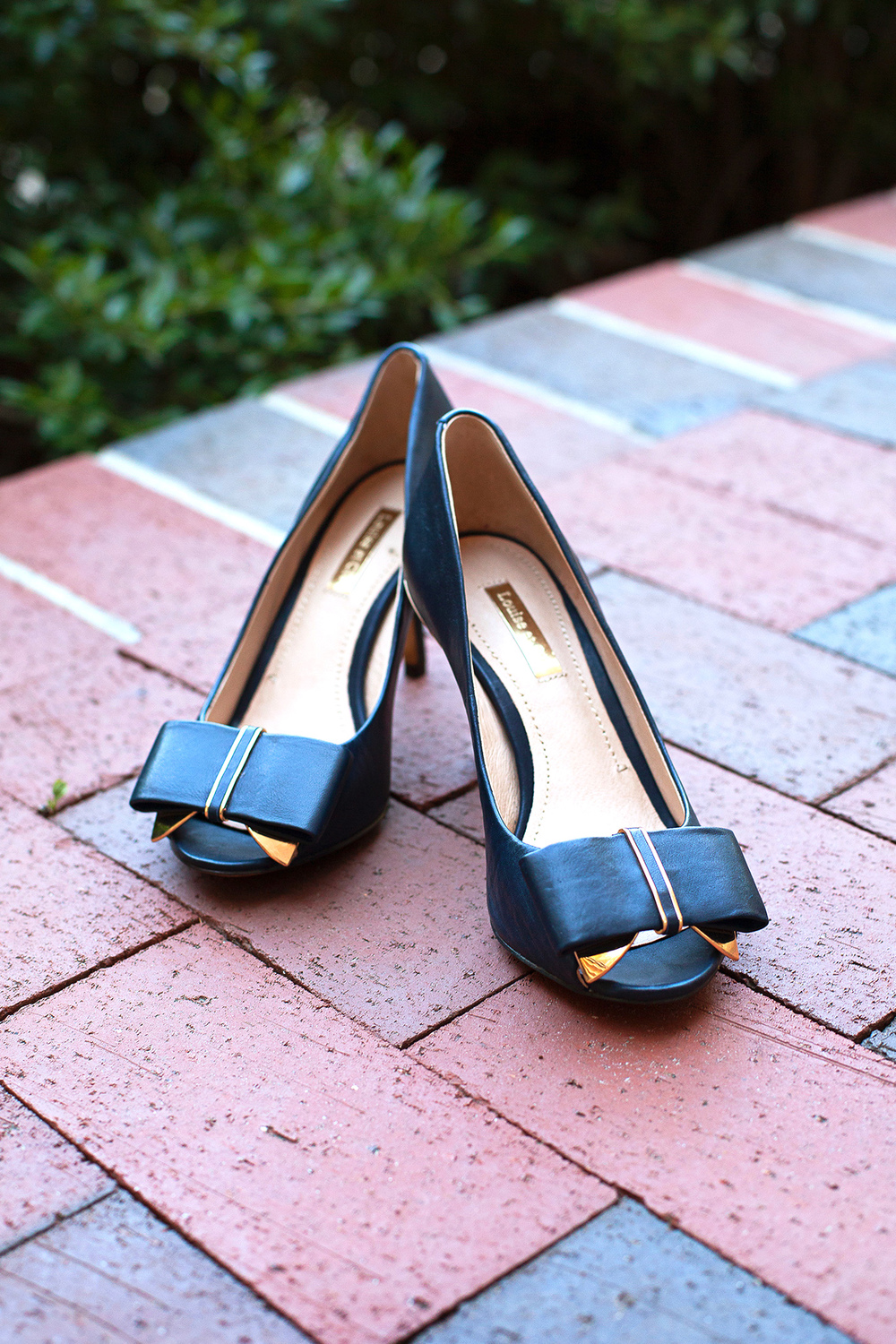 Navy & Gold Wedding Shoes
