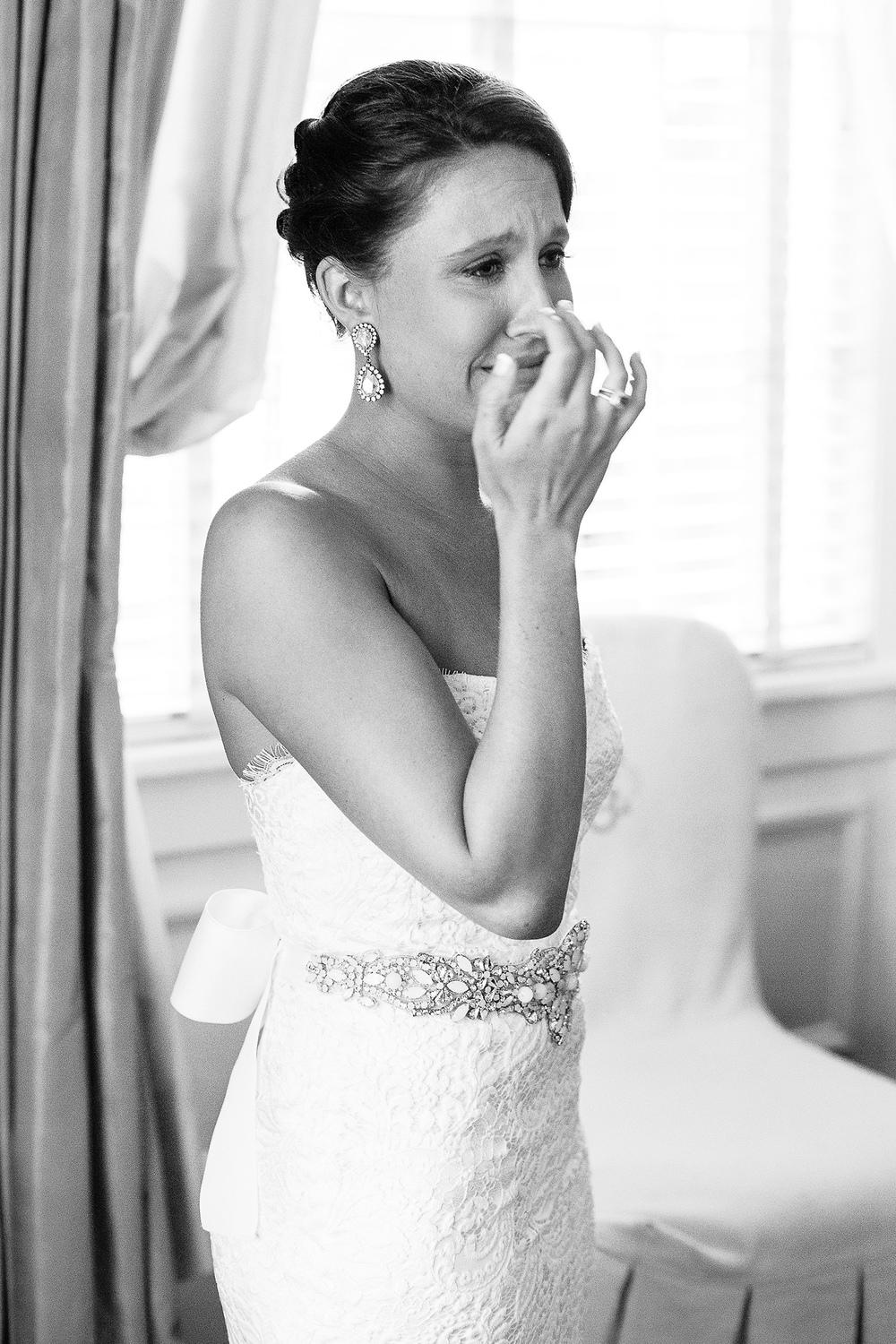 Bride Tearing Up when her Bridesmaids See Her