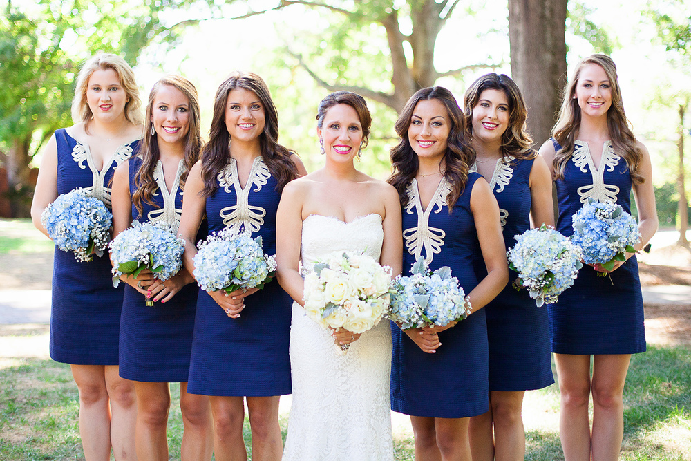 Bridal Party at The Carolina Inn Wedding