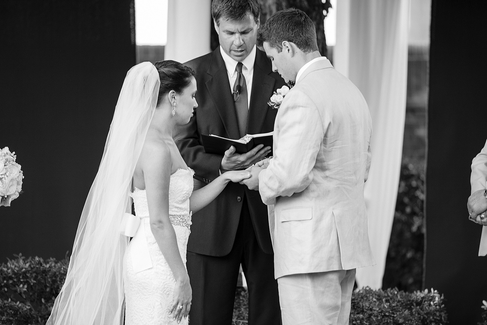 Ring Exchange at The Carolina Inn Wedding