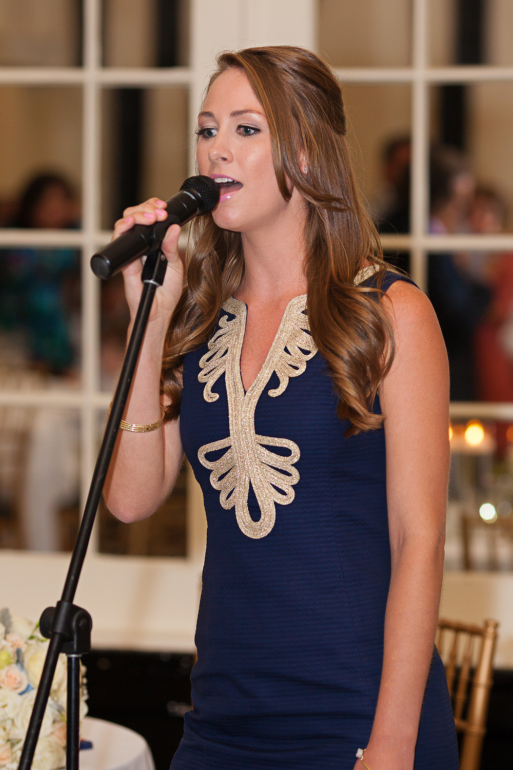 Bridesmaid Singing for the First Dance