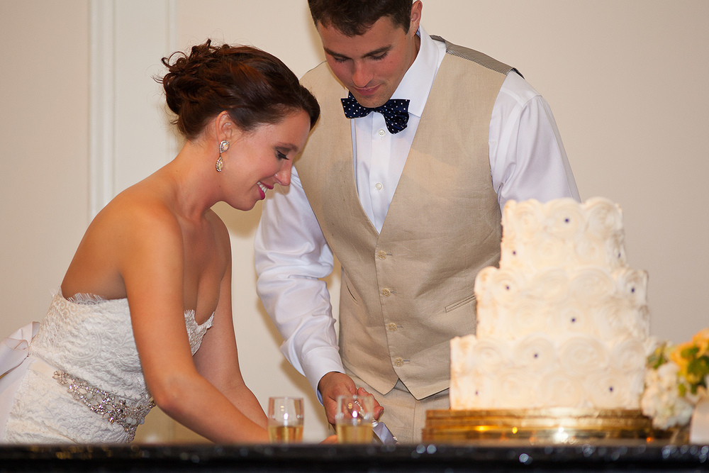 Cutting the Wedding Cake at The Carolina Inn