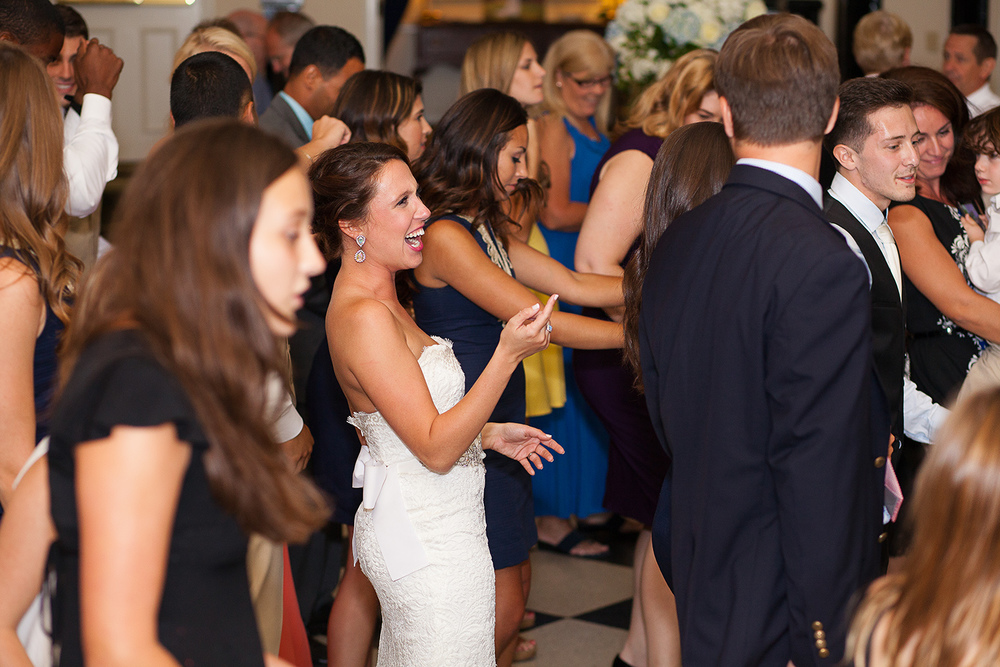 Fun Bridal Party Dancing at a Wedding