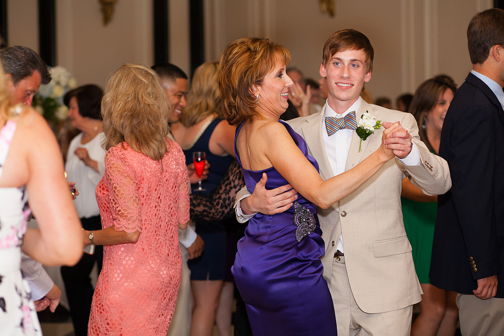 Mom & Son Dancing at a Wedding