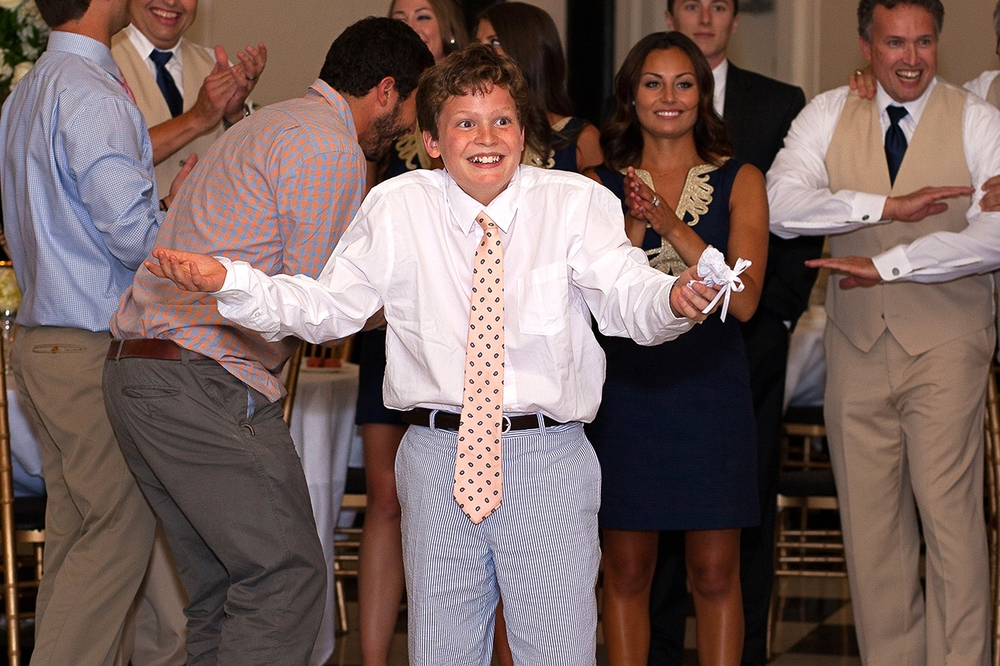 Kid Catches Garter at a Chapel Hill Wedding
