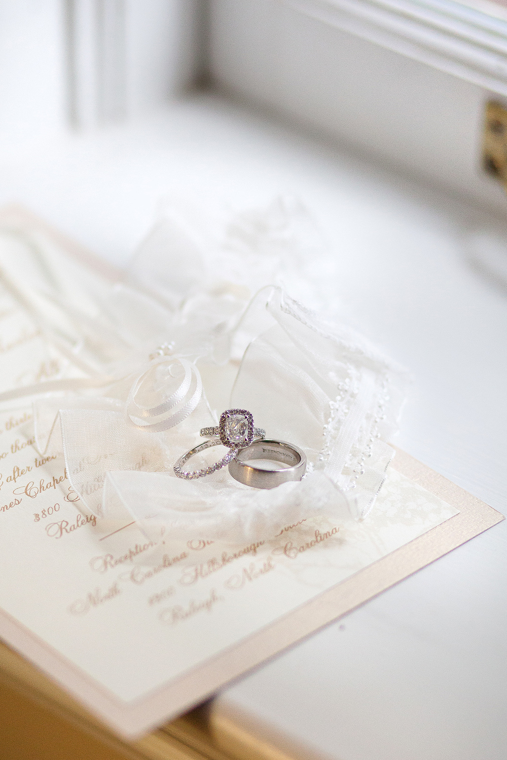 Engagement Ring with Invitation