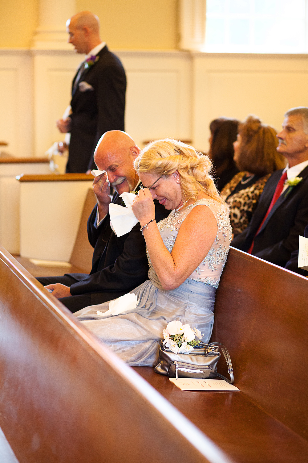 Parents Crying at Wedding