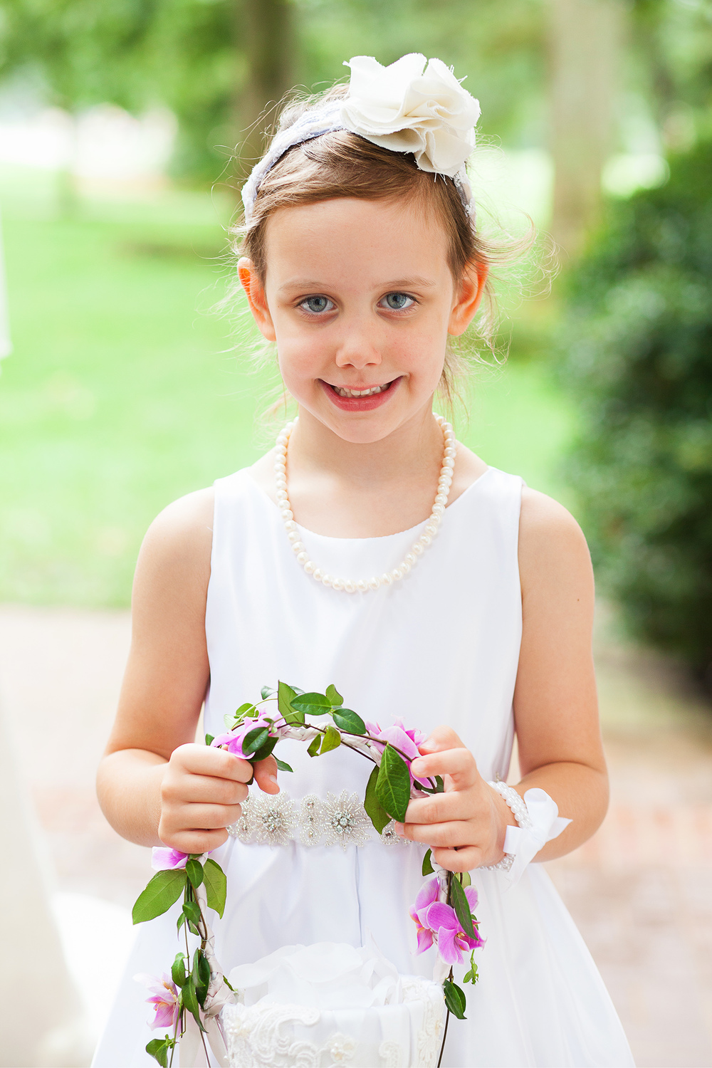 Cute Flower Girl in Raleigh Wedding