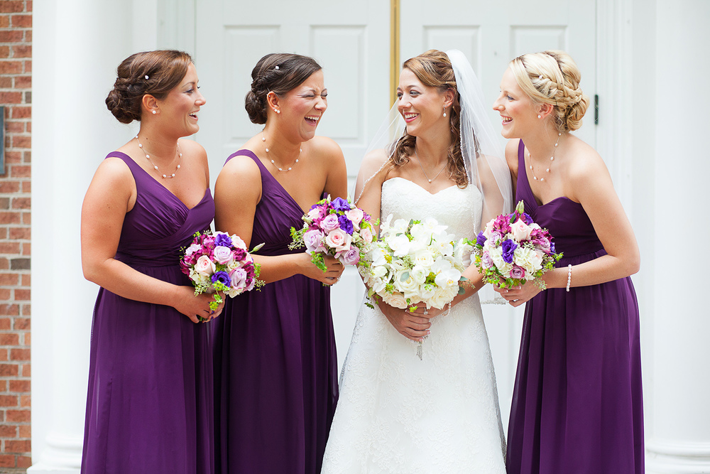 Bridesmaids at Jones Chapel