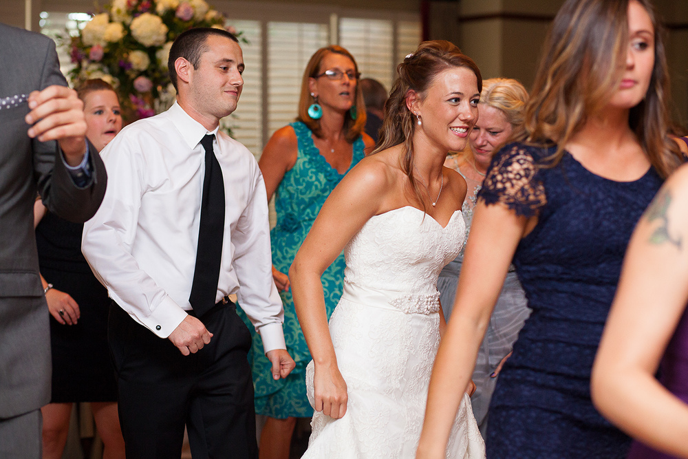 Guests Dancing at Raleigh Wedding