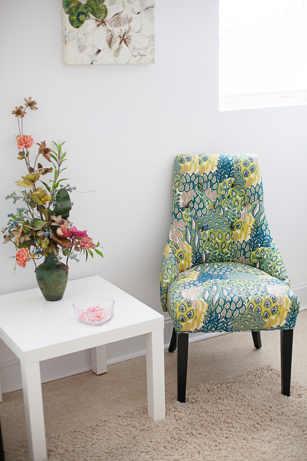 Teal & Lime Green Chair
