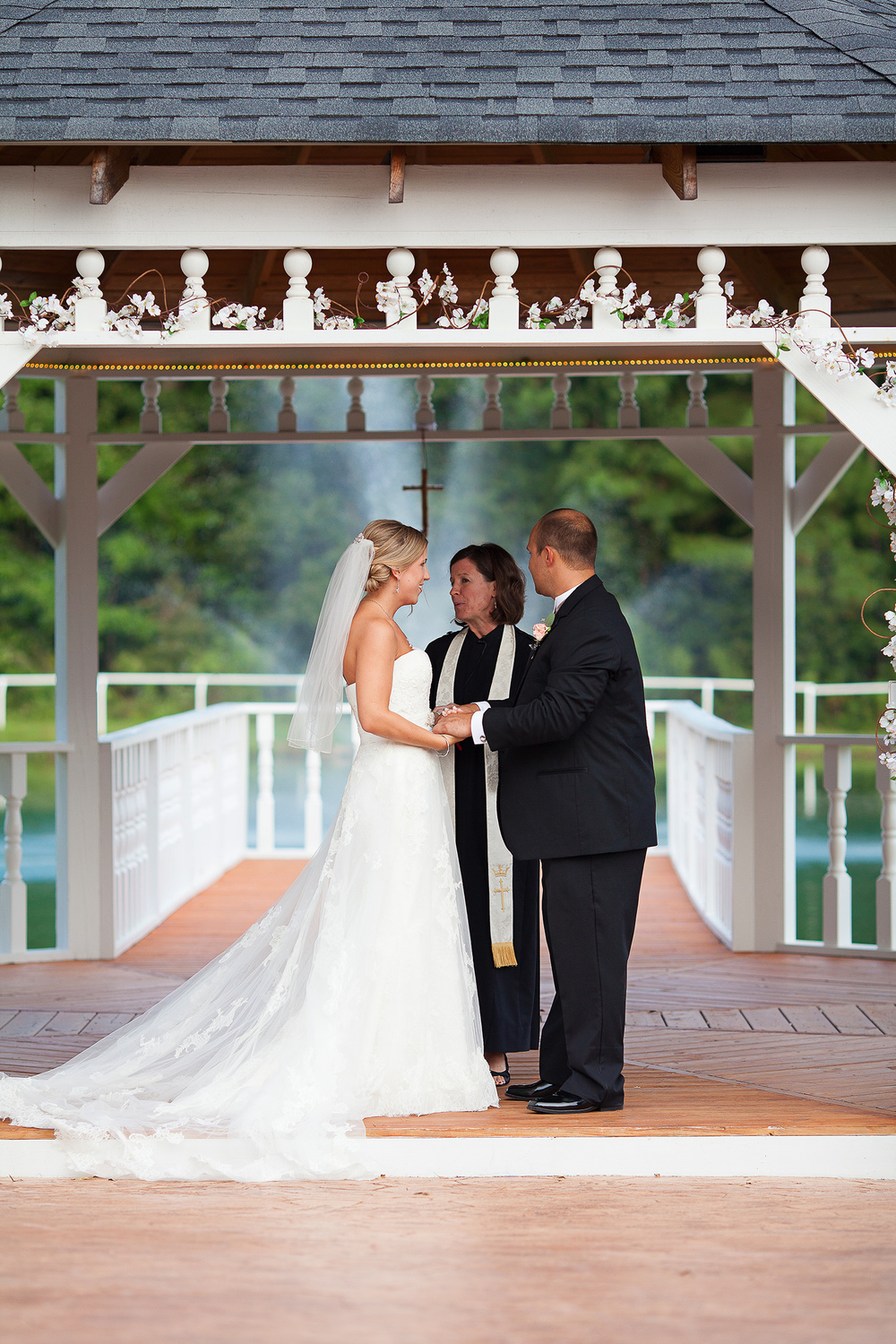 Exchanging Vows on a Gazebo