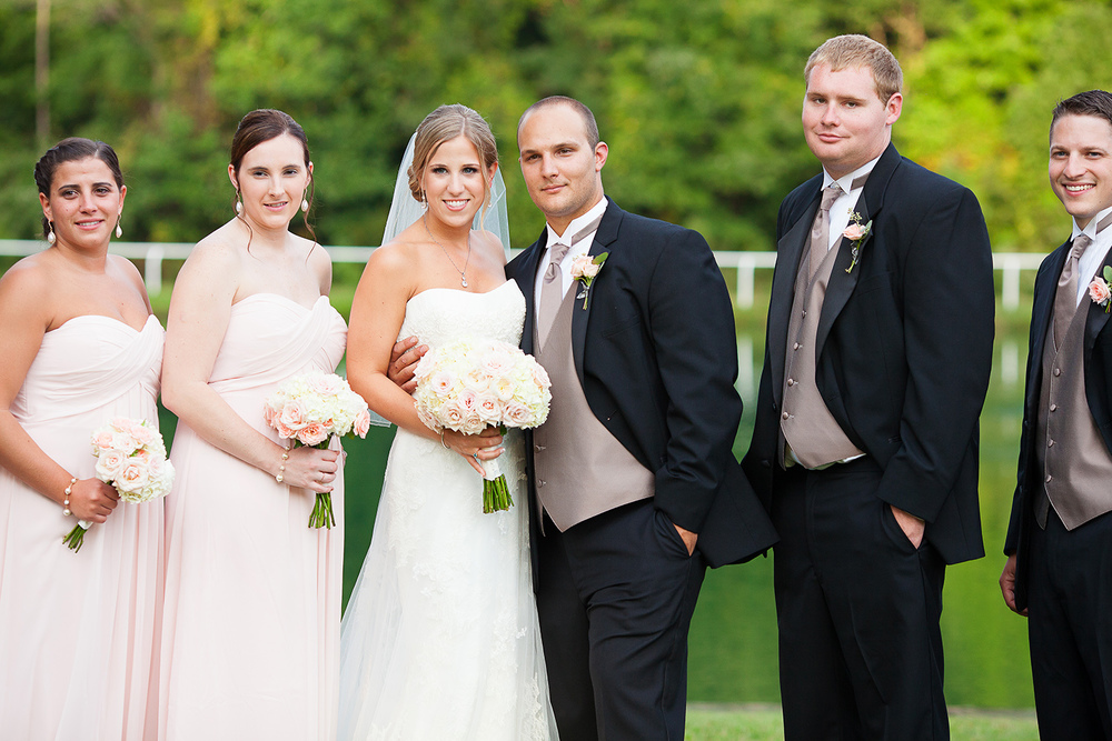 Couple with Bridal Party