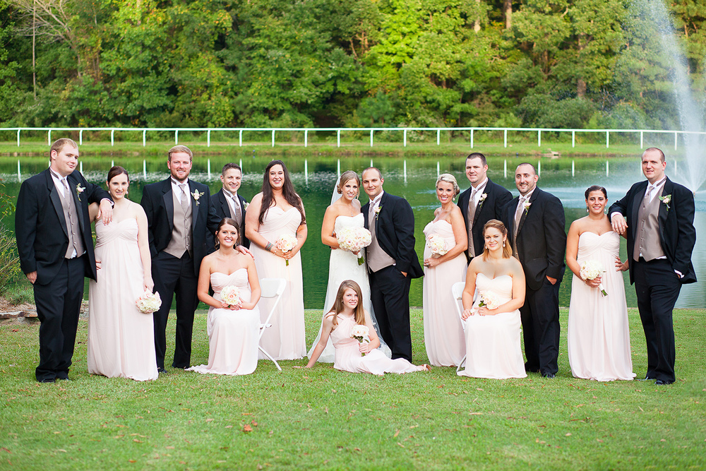 Classy Bridal Party in Blush