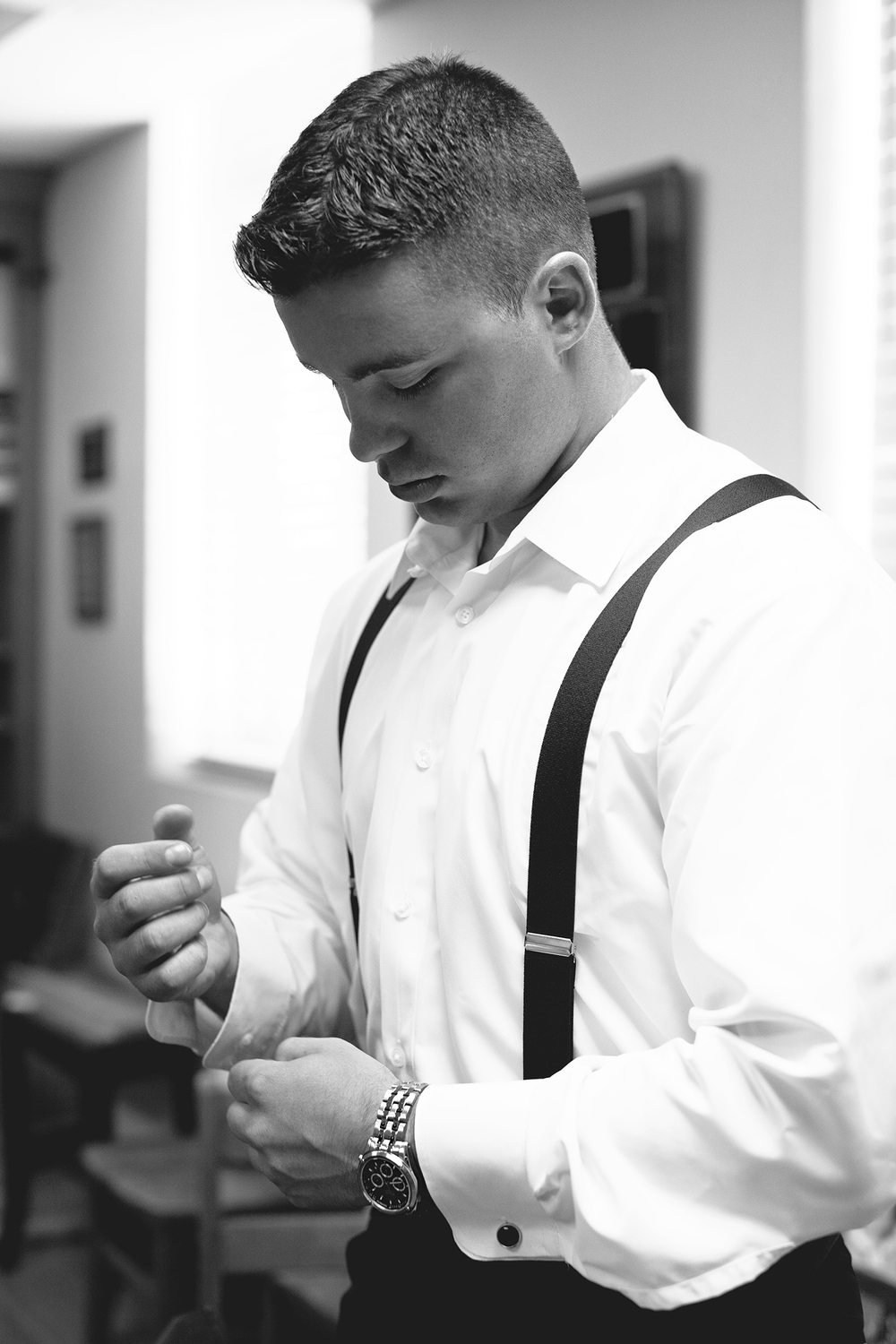 A Groom Getting Ready for his Raleigh Wedding